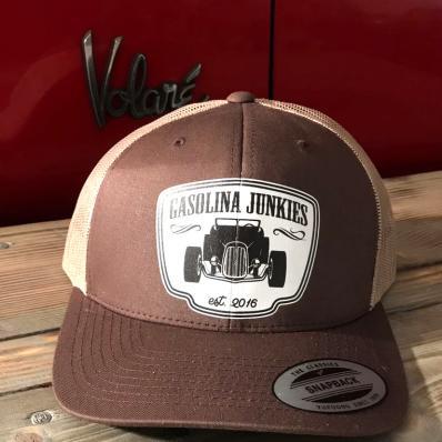 Gasolina Junkies Hotrod Cap  braun