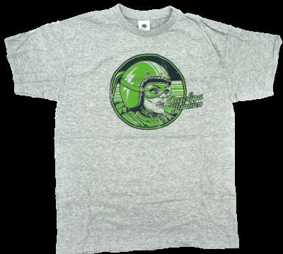 GJs Green Racer Shirt  grau