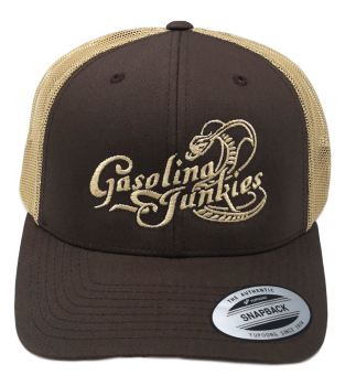 Gasolina Junkies Snake Cap  brown