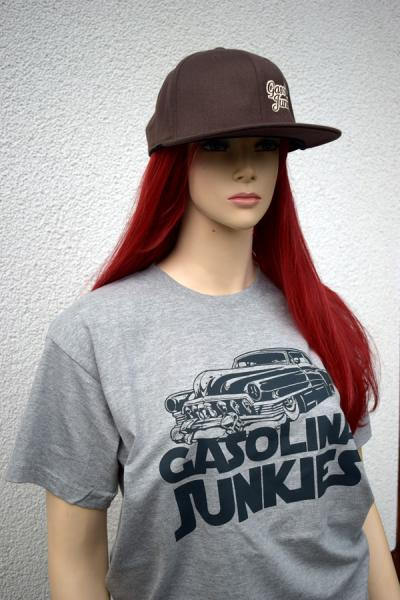 Gasolina Junkies Logo Shirt grau